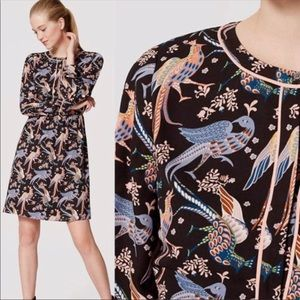 Loft | Snow Birds Button Front Dress